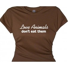 Love Animals Don't Eat Them - Vegetarian Statement Tee